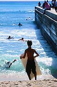 Bodyboarder, Waikiki, Oahu, Hawaii