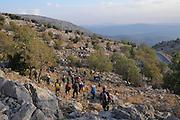 Israel, Golan Heights Hikers