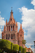"""Picturesque scene in the historic center of San Miguel de Allende, exico<br /> ------<br /> San Miguel de Allende is a city and municipality located in the far eastern part of the state of Guanajuato in central Mexico. It is part of the macroregion of Bajío. Historically, the town is important as being the birthplace of Ignacio Allende, whose surname was added to the town's name in 1826, as well as the first municipality declared independent of Spanish rule by the nascent insurgent army during the Mexican War of Independence. However, the town waned during and after the war, and at the beginning of the 20th century was in danger of becoming a ghost town. Its Baroque/Neoclassical colonial structures were """"discovered"""" by foreign artists who moved in and began art and cultural institutes such as the Instituto Allende and the Escuela de Bellas Artes. This gave the <br /> This attracted foreign art students, especially former U.S. soldiers studying on the G.I. Bill after the Second World War. Since then, the town has attracted a significant amount of foreign retirees, artists, writers and tourists, which is shifting the area's economy from agriculture and industry to commerce catering to outside visitors and residents. The main attraction of the town is its well-preserved historic center, filled with buildings from the 17th and 18th centuries. This and the nearby Sanctuary of Atotonilco have been declared World Heritage Sites in 2008."""
