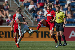 June 10, 2017 - Bridgeview, IL, USA - Bridgeview, IL - Saturday, June 10, 2017: The Chicago fire played the Atlanta United FC in a Major League Soccer (MLS) game at Toyota Park.  The Chicago Fire defeated Atlanta United FC by the score of 2-0. (Credit Image: © Robin Alam/ISIPhotos via ZUMA Wire)