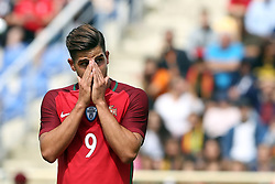 June 3, 2017 - Lisbon, Portugal - Portugal's forward Andre Silva reacts during the friendly football match Portugal vs Cyprus at Antonio Coimbra da Mota Stadium in Estoril, outskirts of Lisbon, Portugal on June 3, 2017. (Credit Image: © Pedro Fiuza/NurPhoto via ZUMA Press)