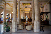 Foyer of the famous Hotel Raquel, Havana old town.