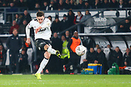 Derby County forward Tom Lawrence (10) scores a goal 2-2  during the The FA Cup 3rd round match between Derby County and Southampton at the Pride Park, Derby, England on 5 January 2019.