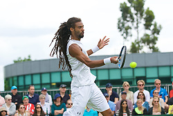 LONDON, ENGLAND - Tuesday, June 28, 2016: Dustin Brown (GER) during the Gentlemen's Singles 1st Round match on day two of the Wimbledon Lawn Tennis Championships at the All England Lawn Tennis and Croquet Club. (Pic by Kirsten Holst/Propaganda)