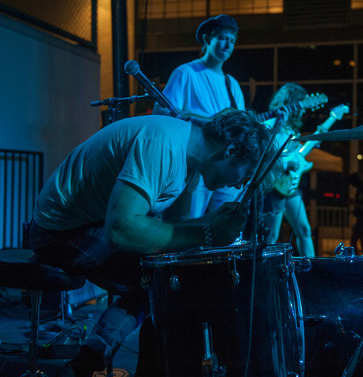 Nicholas Rattigan of Surf Curse performing at The Geffen Contemporary at MOCA in Little Tokyo as part of MOCA Music June 29, 2017.