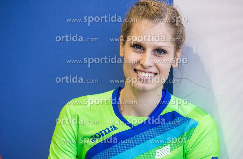 Anita Horvat of Slovenia posing after she competed in the Women's 400 metres heats on day one of the 2017 European Athletics Indoor Championships at the Kombank Arena on March 3, 2017 in Belgrade, Serbia. Photo by Vid Ponikvar / Sportida