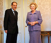 Hare Majesteit de Koningin Beatrix heeft op donderdag 23 november 2006 de heer Javier Solana, Secretaris-Generaal van de Raad van de Europese Unie op audiëntie in Paleis Huis ten Bosch. <br />
