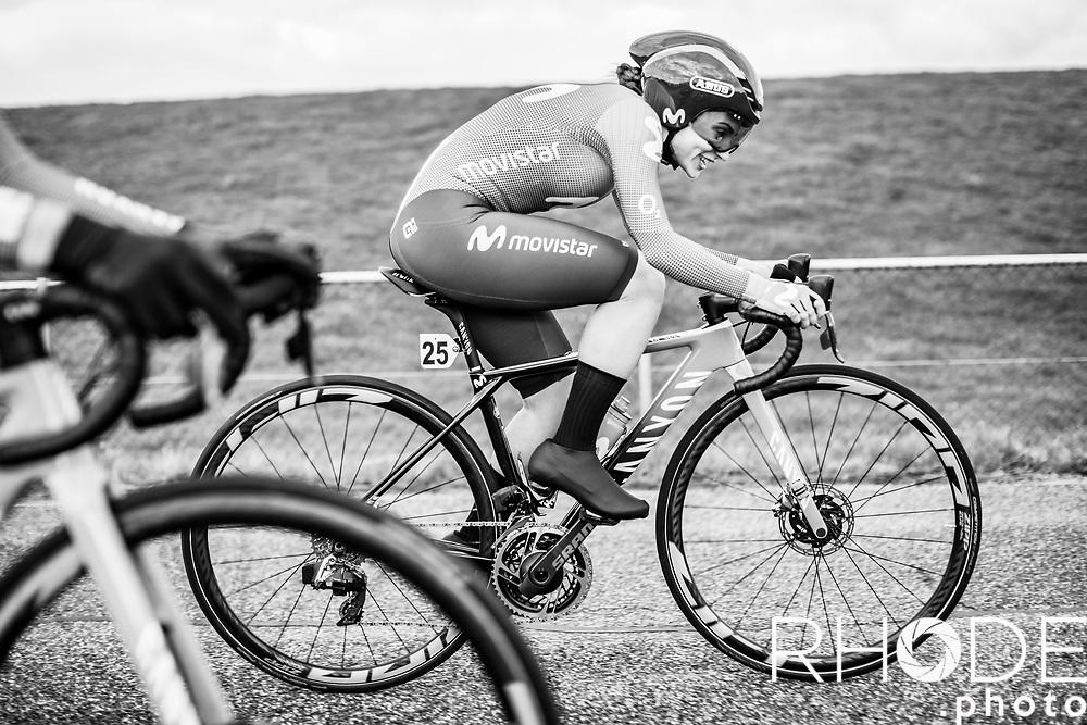 Lourdes Oyabirde (ESP/Movistar)<br /> <br /> Healthy Ageing Tour (NED) 2021<br /> UCI Women Elite 2.1<br /> Stage 2 : Individual Time Trial (ITT) – Lauwersoog – Het Hoogeland 14.4km<br /> <br /> ©RhodePhoto