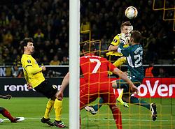 Marco Reus of Borussia Dortmund has his effort saved by Simon Mignolet of Liverpool - Mandatory by-line: Robbie Stephenson/JMP - 07/04/2016 - FOOTBALL - Signal Iduna Park - Dortmund,  - Borussia Dortmund v Liverpool - UEFA Europa League Quarter Finals First Leg