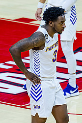 NORMAL, IL - February 27: Tywhon Pickford during a college basketball game between the ISU Redbirds and the Northern Iowa Panthers on February 27 2021 at Redbird Arena in Normal, IL. (Photo by Alan Look)