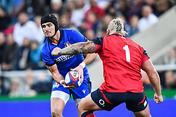 Carlo Canna of Italy in action during todays match<br /> <br /> Photographer Craig Thomas/Replay Images<br /> <br /> Quilter International - England v Italy - Friday 6th September 2019 - St James' Park - Newcastle<br /> <br /> World Copyright © Replay Images . All rights reserved. info@replayimages.co.uk - http://replayimages.co.uk