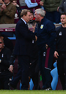 managers Harry Redknapp of Birmingham (l) and Steve Bruce of Aston Villa on the touchline. EFL Skybet championship match, Aston Villa v Birmingham city at Villa Park in Birmingham, The Midlands on Sunday 23rd April 2017.<br /> pic by Bradley Collyer, Andrew Orchard sports photography.
