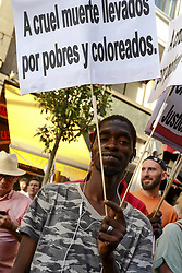 June 18, 2017 - Madrid, Spain - protest under the motto 'Enough excuses, we want to accept refugees now!' in Madrid, Spain, 17 June 2017.Over a hundred citizen platforms and social organizations demand the Spanish government to fulfill its committment to accept 17 thousand refugees before September, and the European Union to open its borders to people who 'flee fom death' (Credit Image: © Oscar Gonzalez/NurPhoto via ZUMA Press)
