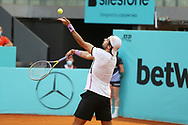 Matteo Berrettini of Italy during the Mutua Madrid Open 2021, Masters 1000 tennis tournament on May 6, 2021 at La Caja Magica in Madrid, Spain - Photo Laurent Lairys / ProSportsImages / DPPI