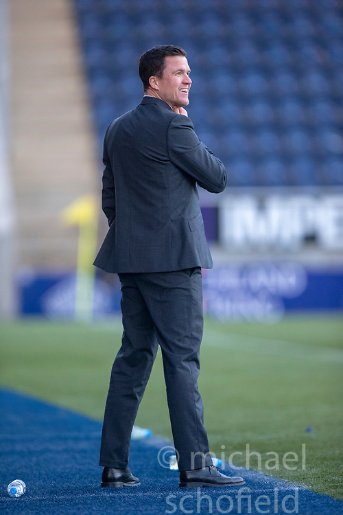 Partick Thistle's manager Gary Caldwell. Falkirk 1 v 1 Partick Thistle, Scottish Championship game played 17/11/2018 at The Falkirk Stadium.