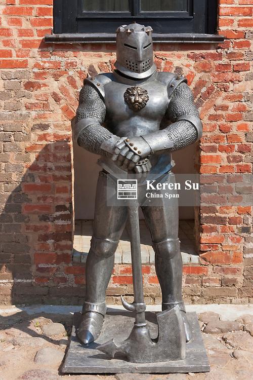 Statue, Mir Castle Complex, UNESCO World Heritage site, Belarus