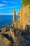 Balancing Rock on the Bay of Fundy on the Digby Neck, Long Island on the Digby Neck, Nova Scotia, Canada