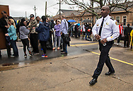 New Orleans police chief Shaun Ferguson at a gun buyback event called for by New Orleans Mayor LaToya Cantrell on Jan 20, 2019. The line started at 5:30.  Only 200 of the more than 1000 people who turned out were able to claim the $500 offered for any gun in working condition turned in. When the Mayor first announced the buyback program no limits were put on how many guns you could bring in for $500. That was changed to $500 maximum payout to any one who could prove residency in Orleans Parish.