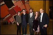 FIONA BRADLEY; MARK WALLINGER; IWAN WIRTH; MANUELA WIRTH; ANTHONY D'OFFAY, Tate Britain Commission 2014: Phyllida Barlow, Tate Britain. Millbank. London. 31 March 2014.