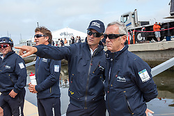 Artemis Racing is being launched and christened by Sarah Gundersen in the presence of Torbjörn Törnqvist and his son Frederic. The Christening was witnessed by The whole shore team, sailing team and their families and friends. 22nd of July, 2013, Alameda, USA