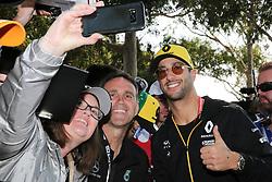 March 16, 2019 - DANIEL RICCIARDO arriving for Qualifying Saturday at the 2019 Formula 1 Australian Grand Prix on March 16, 2019 In Melbourne, Australia  (Credit Image: © Christopher Khoury/Australian Press Agency via ZUMA  Wire)