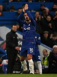Chelsea's Eden Hazard applauds fans
