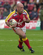 © Intersport Images .Photo Peter Spurrier.12/05/2002.Sport - Rugby League.London Broncos vs Widnes Vikings.Steele Retchless....