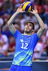 Jan Klobucar of Slovenia during the CEV Volleyball European Championship game Poland - Slovenia on August 30, 2017 in Krakow, Poland. (Photo by Krzysztof Porebski / Press Focus)