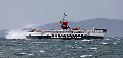 The Calmac ferry Loch Striven continues to operate between Oban and Lismore in stormy seas even when other services to the outer isles are either cancelled or delayed....... (c) Stephen Lawson | Edinburgh Elite media