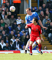 Photo: Mark Stephenson.<br /> Birmingham City v Coventry City. Coca Cola Championship. 01/04/2007.Birmingham's Stephen Kelly gets the better of Coventry's Michael Mifsud