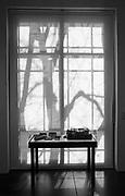 Abstract window, Georgia O'Keefe Museum, Santa Fe, New Mexico