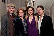 Elliot Gowan; Samantha Bond;  Rachael Stirling;  Alex Hanson, First night for 'An Ideal Husband' by Oscar Wilde ÐThe play opened at The Vaudeville Theatre with a party after  Kettners, Soho. 10 November 2010. . -DO NOT ARCHIVE-© Copyright Photograph by Dafydd Jones. 248 Clapham Rd. London SW9 0PZ. Tel 0207 820 0771. www.dafjones.com.<br /> Elliot Gowan; Samantha Bond;  Rachael Stirling;  Alex Hanson, First night for 'An Ideal Husband' by Oscar Wilde –The play opened at The Vaudeville Theatre with a party after  Kettners, Soho. 10 November 2010. . -DO NOT ARCHIVE-© Copyright Photograph by Dafydd Jones. 248 Clapham Rd. London SW9 0PZ. Tel 0207 820 0771. www.dafjones.com.