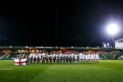 England U20 line up for the National Anthem - Mandatory by-line: Robbie Stephenson/JMP - 15/03/2019 - RUGBY - Franklin's Gardens - Northampton, England - England U20 v Scotland U20 - Six Nations U20