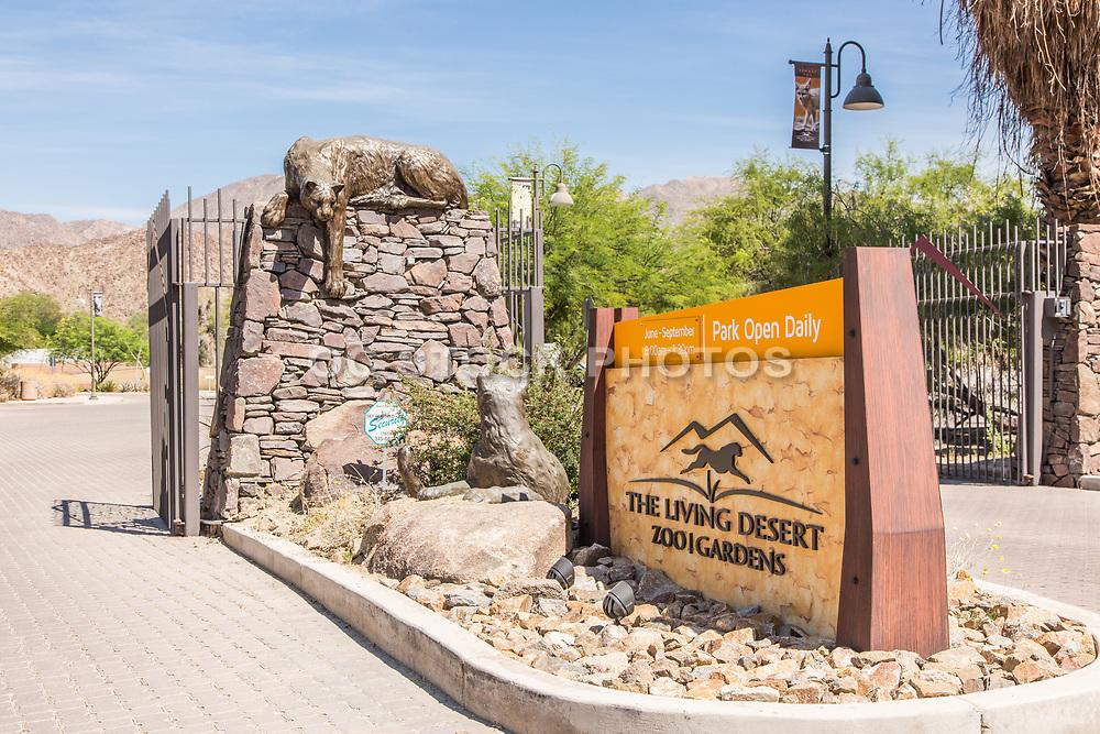 The Living Desert Zoo and Gardens Entrance Palm Desert California