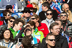 Miro Cerar, Prime Minister of Slovenia and Aleksandar Vucic, Prime Minister of Serbia (R) during the 2nd Run of 5th Ladies' Giant slalom at 51st Golden Fox of Audi FIS Ski World Cup 2014/15, on February 21, 2015 in Pohorje, Maribor, Slovenia. Photo by Vid Ponikvar / Sportida