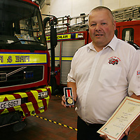 Scariff Fire Service station officer Martin Touhy who was awarded the Service Fada for over 20years service recently.<br /> Photograph by Yvonne Vaughan