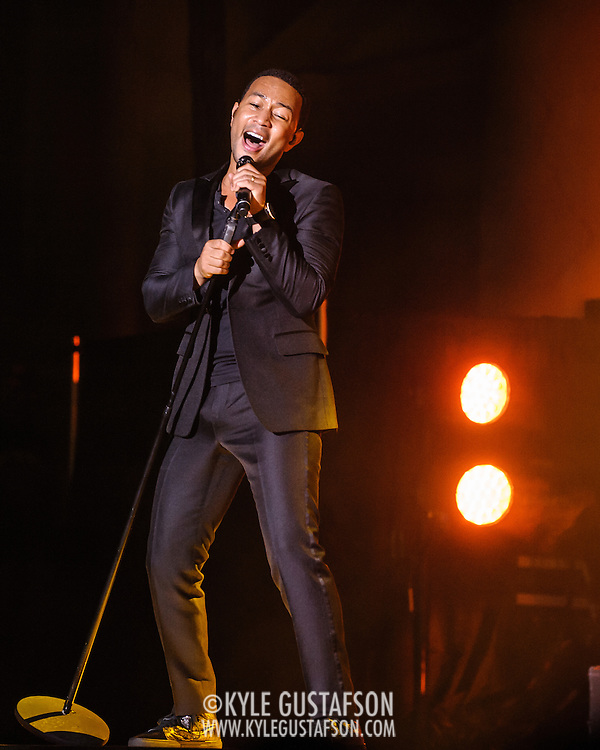 WASHINGTON, DC - October 23, 2013 - Grammy award-winner John Legend performs at DAR Constitution Hall in Washington, D.C. Legend released his fourth album, Love in the Future, in August. (Photo by Kyle Gustafson / For The Washington Post)
