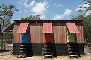 Eco-lavatories at the school in Puerto Firmeza were designed and built by Alianaza Arkana.<br /> The organisation promotes properly maintained composting latrines, also known as dry latrines, for managing human waste. The design is cheap and simple, using two large chambers that are used in succession to provide ample time between the uses of each side to ensure complete decomposition of the organic material. Chambers can even be built out of eco-bricks.