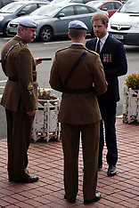 Prince Harry arrives at the Army Aviation Centre in Hampshire