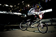 #12 (READE Shanaze) GBR at the UCI BMX Supercross World Cup in Manchester, UK