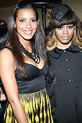 l to r: Julissa Bermuda, and Teyana Taylor at The 2009 Fall Baby Phat Fashion Show held at Gotham Hall on February 17, 2009 in New York City.