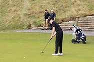 Luke Kelly (RBAI) on the 7th green during the Final of the Irish Schools Senior Championship at Portstewart Golf Club, Portstewart, Co Antrim on Tuesday 23rd April 2019.<br /> Picture:  Thos Caffrey / www.golffile.ie<br /> <br /> All photos usage must carry mandatory copyright credit (© Golffile | Thos Caffrey)