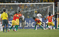 Photo: Steve Bond/Richard Lane Photography.<br />Ghana v Guinea. Africa Cup of Nations. 20/01/2008. Oumar Kalabane (15, right) nearly spoils the party with an unexpected equaliser