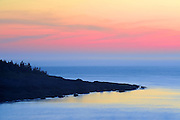 Sunset on Bay of Fundy <br /> Whale Cove on the Digby Neck<br /> Nova Scotia<br /> Canada