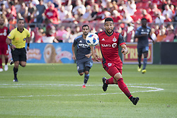 August 12, 2018 - Toronto, Ontario, Canada - MLS Game at BMO Field 2-3 New York City. IN PICTURE: JUSTIN MORROW (Credit Image: © Angel Marchini via ZUMA Wire)