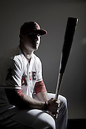 Mike Trout sits for a portrait during spring training in 2013.