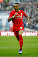 Nathaniel Clyne of Liverpool makes a run. Capital One Cup Final, Liverpool v Manchester City at Wembley stadium in London, England on Sunday 28th Feb 2016. pic by Chris Stading, Andrew Orchard sports photography.