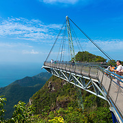 People On Hanging Sky Bridge, Langkawi