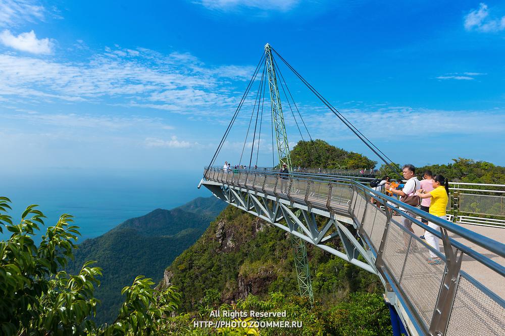 People On Hanging Sky Bridge, Langkawi