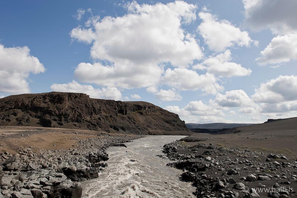 Glacier river, Kreppa in the highlands of Iceland - Áin Kreppa á hálendi Íslands